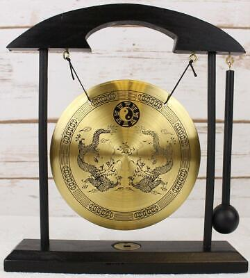 Zen Table Gong TaiChi Dragon Feng Shui Meditation Desk Bell Home Decor Gift USA 6