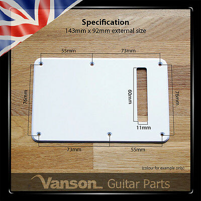 NEW Vanson Tremolo Cover Backplate to fit Fender® USA, MEX Stratocaster Strat®* 2
