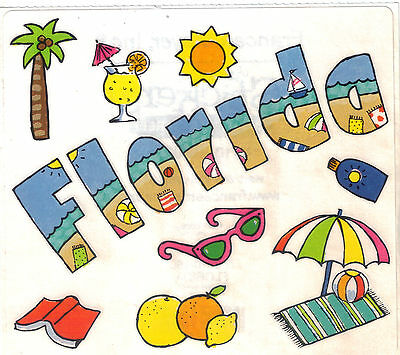 Large Sheet of Vintage CALIFORNIA Stickers/' Frances Meyer CALIFORNIA