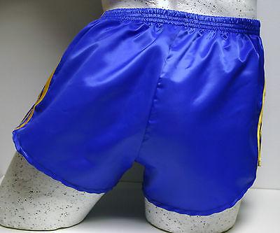 Retro Nylon Satin Football Shorts S to 4XL White /& Black