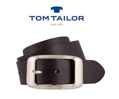 TOM TAILOR Belt TW1006R61 W105 Gürtel Ledergürtel Damengürtel Braun Neu