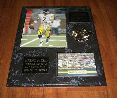 c93bce81e4a 1 of 7Only 1 available STEELERS BEN ROETHLISBERGER SIGNED HEINZ FIELD  PLAQUE w COA - YOUR CHOICE
