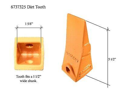 Skid Rock Bucket Teeth /& Pins 7107320 Bobcat Style Excavator 6 7107321