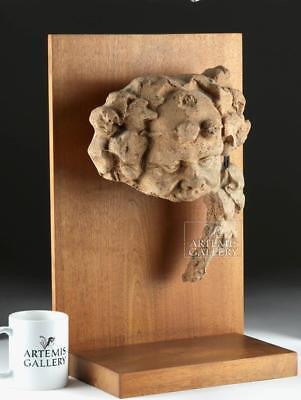 Etruscan Terracotta Head of Silenus Antefix Lot 35E