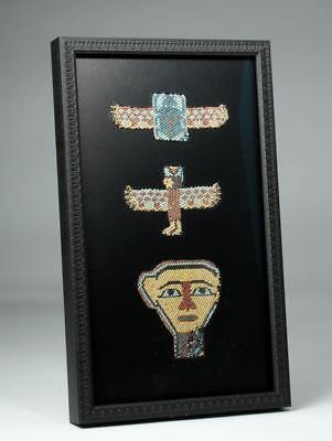 Rare / Original Egyptian Beaded Mask Ensemble Lot 4B