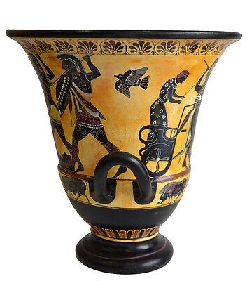 Achilles Hector Menelaos Paris -Trojan War Theme - Krater - Museum Replica
