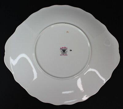 Royal Albert Needle Point Handled Cake Plate 10 inches Vintage Bone EUC 5