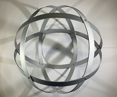 Genesa Crystal diametro 31 cm alluminio satinato argento profilo 2 cm. 3