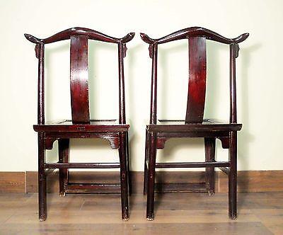 Antique Chinese High Back Chairs (Pair) (5427), Circa 1800-1849 11