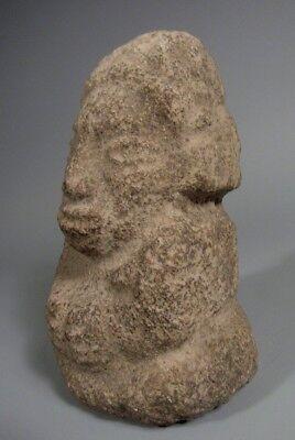 Costa Rica Nicoya Carved Stone Anthropomorphic Idol Statue ca. 500-800 AD 6