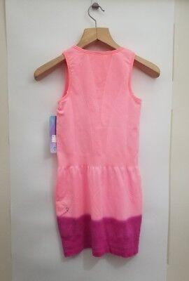 ivivva Court Champ Dress NWT 8 10 12 14 FLAL/ROCR Pink Color Shelf Bra Seamless 2
