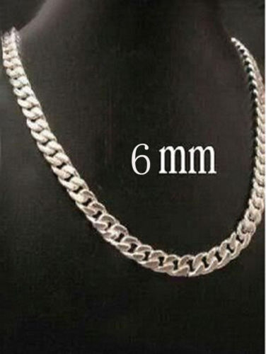 """925 Sterling Silver Figaro Snake Rolo Box Chain Necklace Unisex Jewelry 16""""-30"""" 5"""