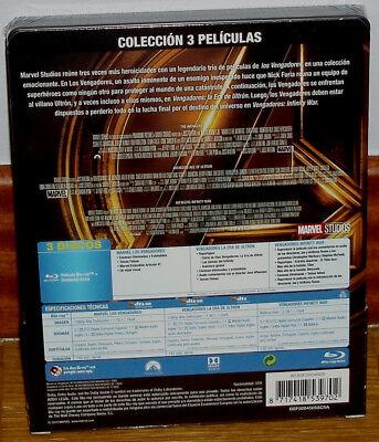 Los Vengadores Trilogia 3 Blu-Ray Precintado Steelbook Nuevo (Sin Abrir) R2 2