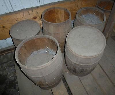"Vintage 3"" Cut Siding Nail Hot Dip Galvanized FROM wood keg Common Box CUT Nails 7"