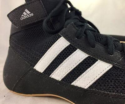 476083e7ae6 ... New ADIDAS HVC 2 Wrestling Shoes MMA Boxing Black White Gum AQ3325 3