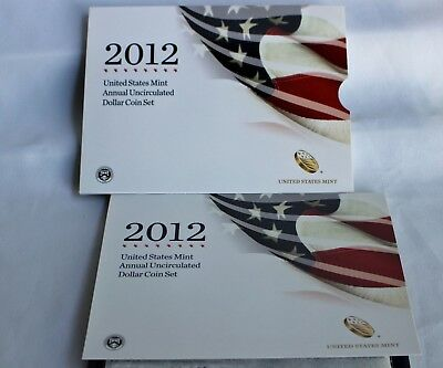 2012 US Mint Annual Uncirculated Dollar 6 Coin Set ASE Presidents Sacagawea $1 2