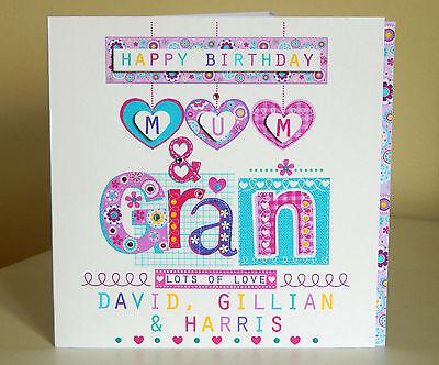 Mum Nana Nan Card Grandma Nanny Gran Granny Personalised Special