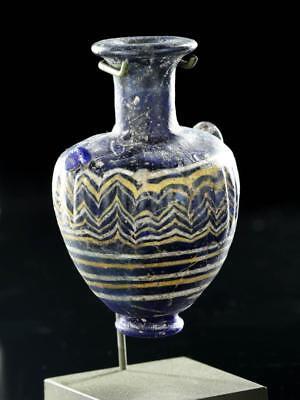 Hellenistic Greek Core-Form Glass Amphoriskos Lot 32C