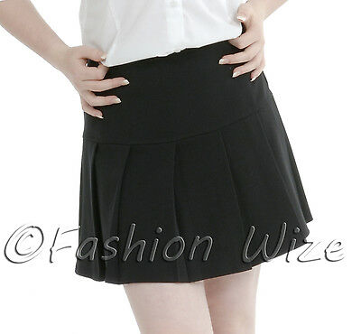 Girls Womens Pleated School Skirt Drop Waist Grey Black Navy Ages 5-16 Size 6-24 11