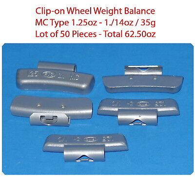 Assort 300 Pc Clip-on Wheel Weight Balance Type MC 0.25 0.50 0.75 1.0 1.25 1.50z 6