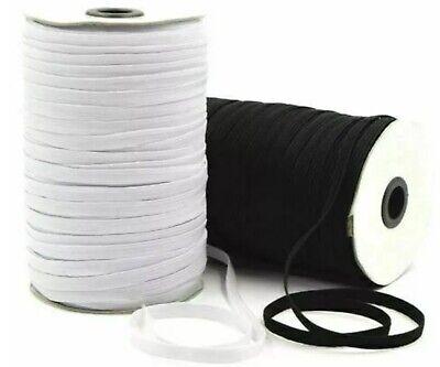 "6""mm 1/4"" INCH ELASTIC -Premium Grade Black Or White Flat Sewing Elastic 5"