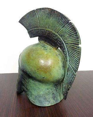 Ancient Greek Bronze Museum Replica Vintage Athenian Battle Helmet Collectable 4