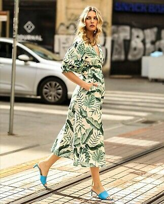 H/&m SS2020 Trendy Johanna Ortiz broderie anglaise Leaf Robe bloggers sold out