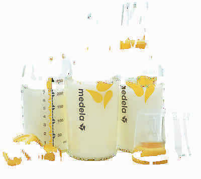 MEDELA BREAST MILK COLLECTION STORAGE BOTTLE 8 OZ/ 240 ML WIDE NIPPLE x3 #87132 2