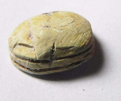 Zurqieh -Af709- Ancient Egypt ,2Nd Intermediate Stone Scarab. 1782 - 1570 B.c 3
