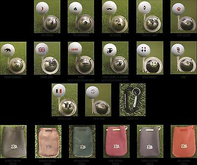 1 only TIN CUP GOLF BALL MARKER - SMILEY FACE - YOURS FOR LIFE & EASY TO DO