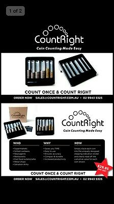 CountRight - Australian  COIN COUNTING TRAY, Money Sorting Tray, Coin Counter 6