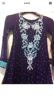 Stunning Asian Pakistani Indian Designer anarkali Dress  Wedding party Wear 2