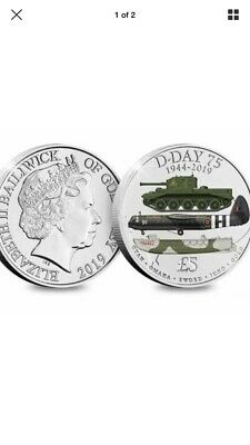 £5 D Day 75th Anniversary Coin Forces Five Pound 2