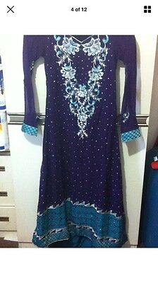 Stunning Asian Pakistani Indian Designer anarkali Dress  Wedding party Wear 4