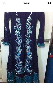 Stunning Asian Pakistani Indian Designer anarkali Dress  Wedding party Wear 6