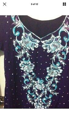 Stunning Asian Pakistani Indian Designer anarkali Dress  Wedding party Wear 3