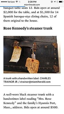 Rose Kennedy Steamer Trunk White Winter House Auction Palm Beach Leslie Hindman