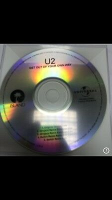 """U2 """"Get Out Of Your Own Way"""" Brand New Genuine 5 Remix Cd Promo 2"""