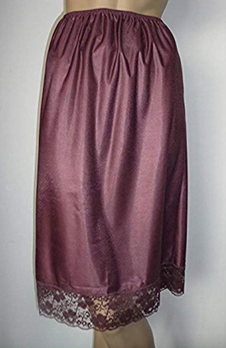 Damart 2 X Mulberry Deep Lace Trim Half Slip Underskirt 12 14 16 18 20 22 24 26 2