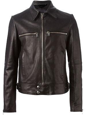 GIACCA GIUBBOTTO IN Pelle Uomo Men Leather Jacket Veste