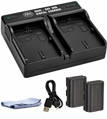 BM Premium Battery (2-Pack) and Dual Charger for Canon LP-E6, LP-E6N