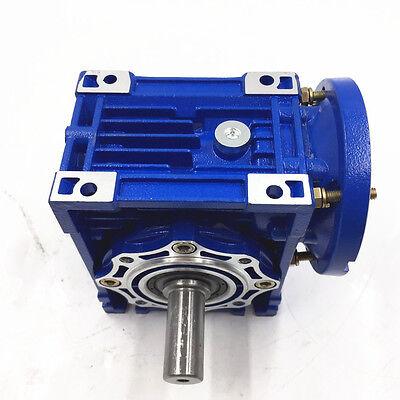 040 Ratio 63B14 100:1 Worm Gear Speed Reducer 11mm 1400r/min for Stepper Motor 7
