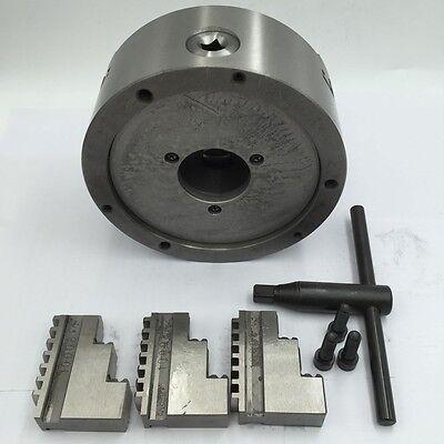 K11 Lathe Chuck 3-jaw Self-Centering 80 100 125 130 160 200mm Metal Mill Lathe 5