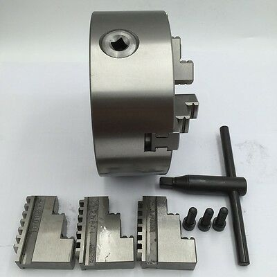 K11 Lathe Chuck 3-jaw Self-Centering 80 100 125 130 160 200mm Metal Mill Lathe 4