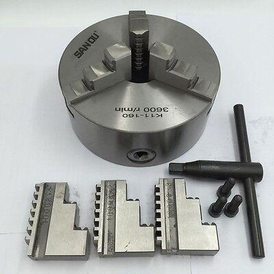 K11 Lathe Chuck 3-jaw Self-Centering 80 100 125 130 160 200mm Metal Mill Lathe 2