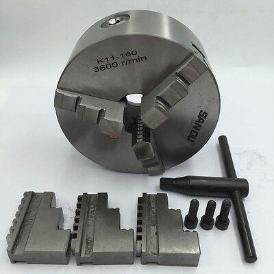K11 Lathe Chuck 3-jaw Self-Centering 80 100 125 130 160 200mm Metal Mill Lathe 6