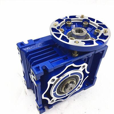 040 Ratio 63B14 100:1 Worm Gear Speed Reducer 11mm 1400r/min for Stepper Motor 8