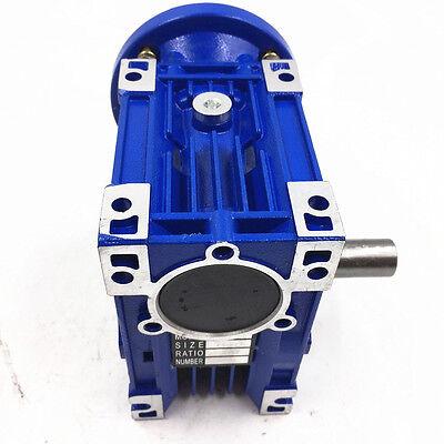 040 Ratio 63B14 100:1 Worm Gear Speed Reducer 11mm 1400r/min for Stepper Motor 10