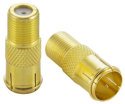 f/ür Koaxialkabel Antennenkabel F-Quick SAT Adapter F-Stecker beidseitig Poppstar 2X F-Quickstecker Kupplung silbern