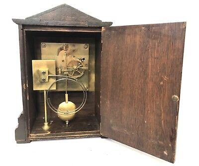 WINTERHALDER HOFFMEIER W & H Antique Oak Bracket Mantel Clock SERVICED 11